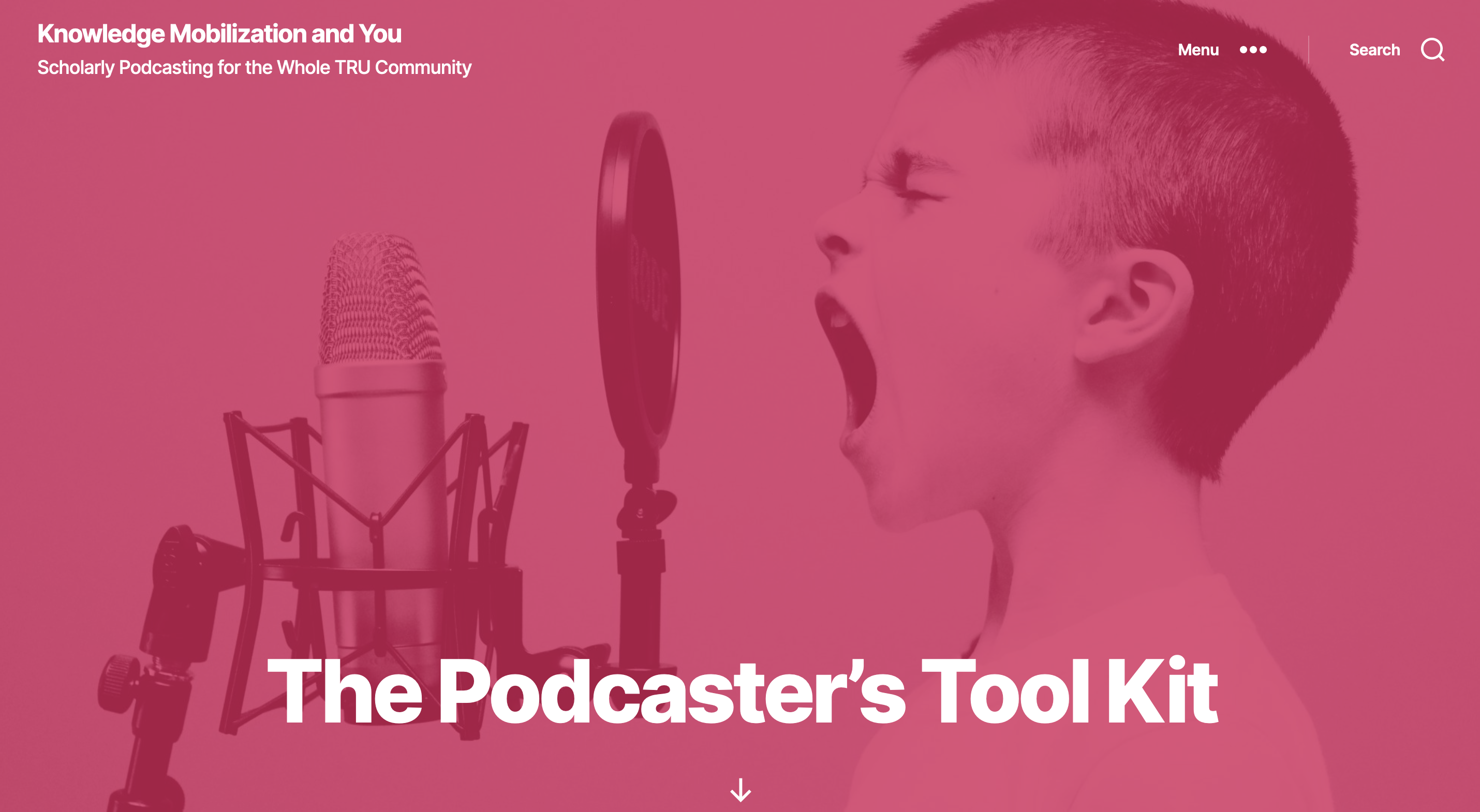 The Podcaster's Tool Kit an image of a kid screaming into a microphone.